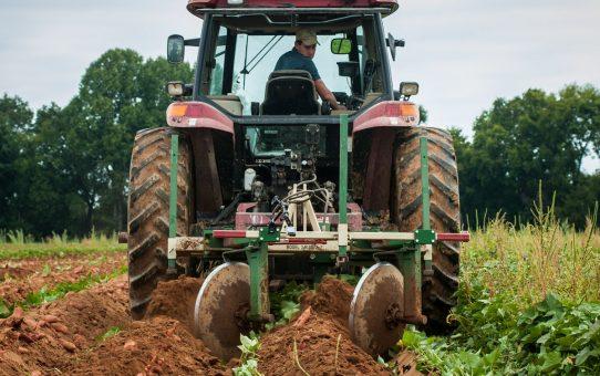 Labour avec tracteur à Rodez