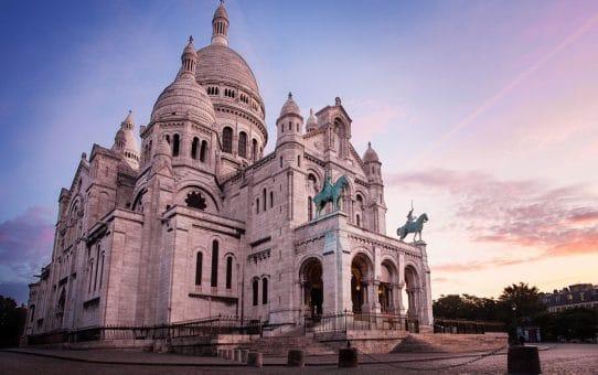 Sacré cœur à la Butte Montmartre de Paris