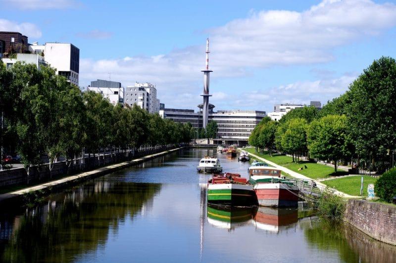 Ville de Rennes, canal d'Ille et Rance